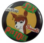 Sex Pistols - 'Who Killed Bambi' Button Badge